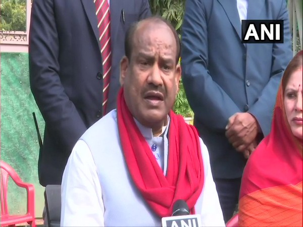 Kota MP Om Birla during a press conference in Jaipur on Saturday. Photo/ANI