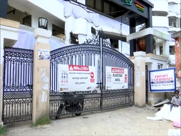 Residents have vacated the premises which will be brought down in Kochi. Photo/ANI