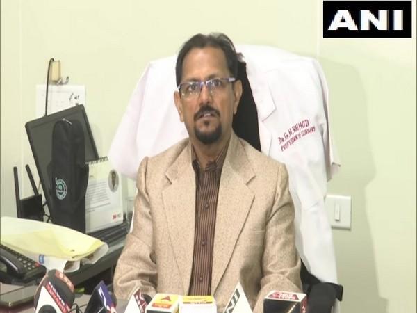 GS Rathod, Superintendent of Ahmedabad Civil Hospital, speaking to media on Sunday. Photo/ANI