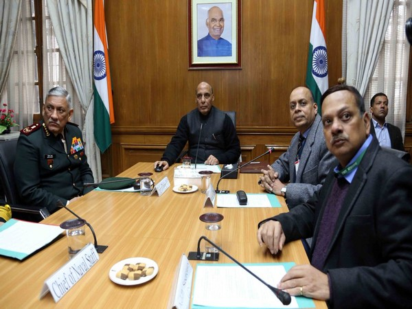 Defence Minister Rajnath Singh launched website on grant of permission for aerial photography/remote sensing survey of defence land. (Photo tweeted by Defence Ministry)
