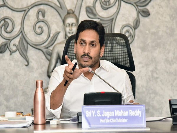 Andhra Pradesh Chief Minister YS Jagan Mohan Reddy at the meeting of bankers on Tuesday.