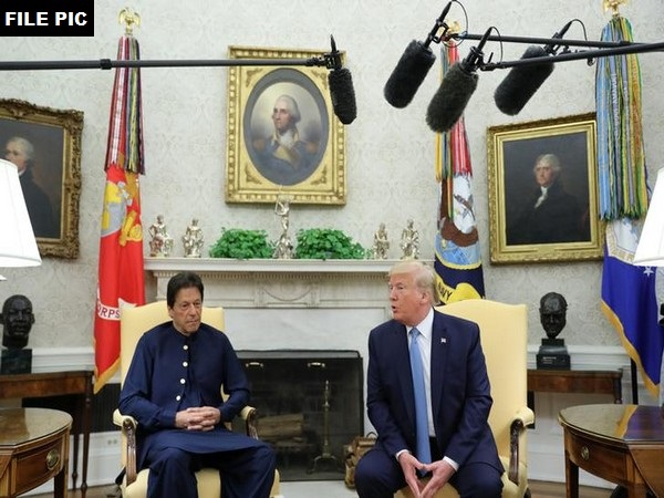 Pakistan Prime Minister Imran Khan with US President Donald Trump in Davos on Tuesday