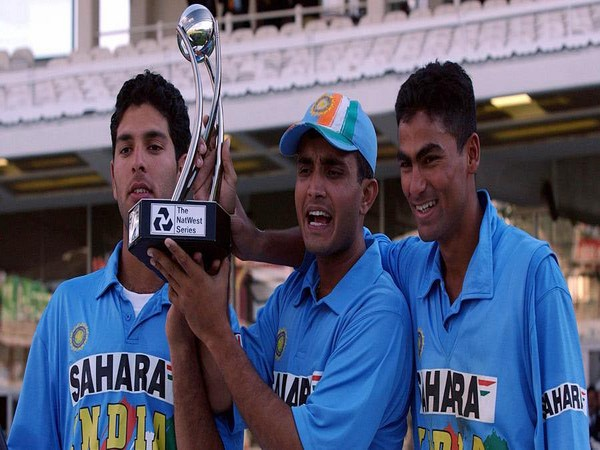 Sourav Ganguly, Yuvraj Singh and Mohammad Kaif after winning Natwest final (Photo/ Mohammad Kaif Twitter)
