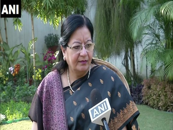 JMI vice-chancellor Najma Akhtar speaking to ANI on Sunday. Photo/ANI