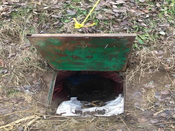 A terrorist hideout place in Urpora, Jammu and Kashmir