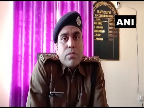 KI Prakash, Patna Traffic Deputy Superintendent of Police, speaking to ANI on Sunday. Photo/ANI