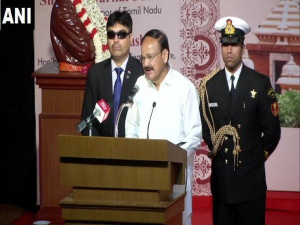 Vice President M Venkaiah Naidu in Chennai on Sunday. Photo/ANI