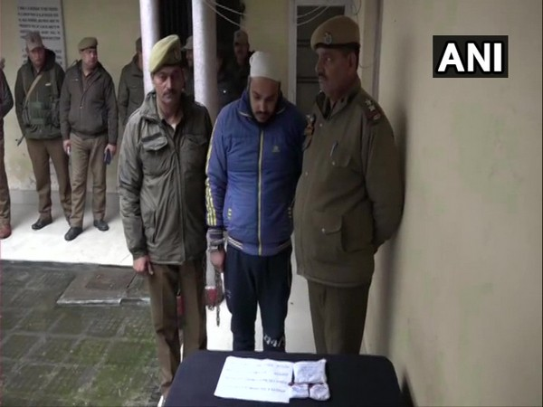 Police with accused Amandeep Singh from Kathua on Monday