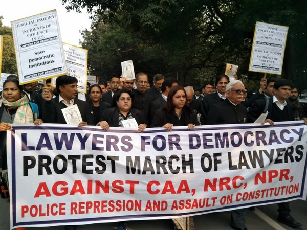 SC lawyers hold protest march against CAA, NRC in Delhi