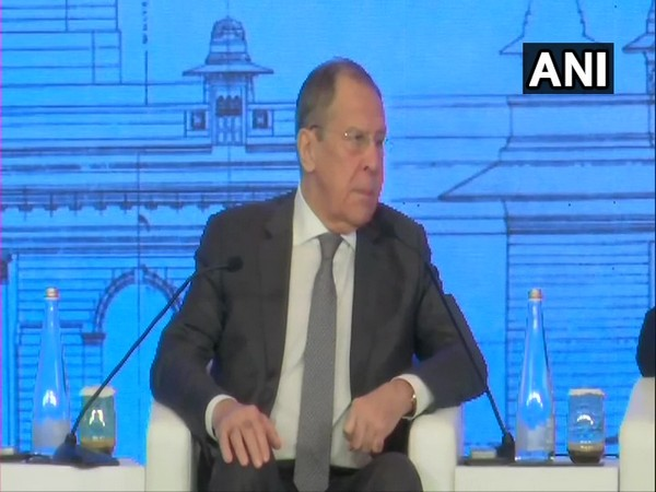 Russian Foreign Minister Sergey Lavrov speaking at Raisina Dialogue 2020 in New Delhi on Wednesday.