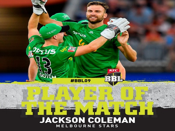 Melbourne Stars' Jackson Coleman (Image: BBL Twitter)