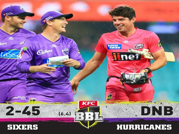 Sydney Sixers and Hobart Hurricanes match abandoned (Image: BBL's Twitter)