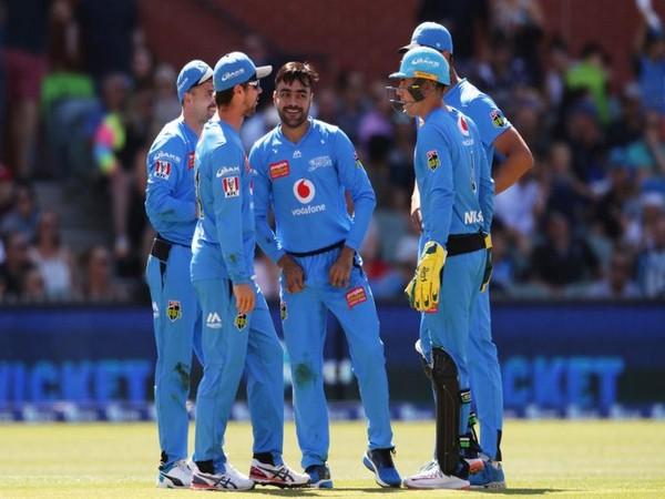 Adelaide Strikers celebrate wicket of Brisbane Heat's batsman (Photo/ cricket.com.au Twitter)