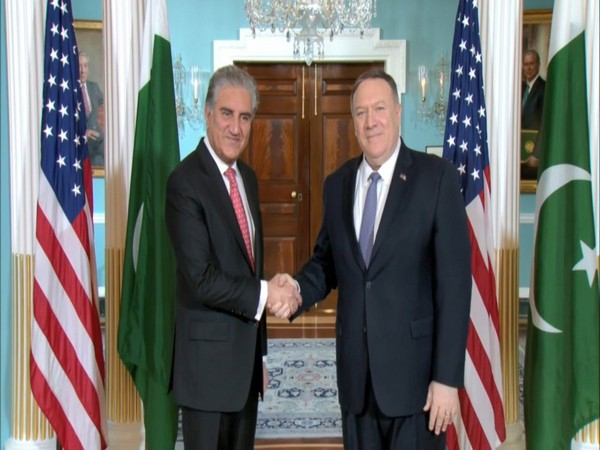 Pakistan Foreign Minister Shah Mahmood Qureshi and US Secretary of State Michael Pompeo in Washington DC on Friday. (Photo Source: SM Qureshi Twitter)