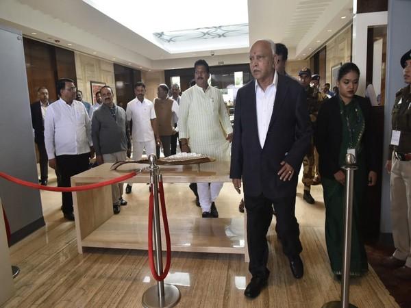 Karnataka Chief Minister BS Yediyurappa leaving for Davos on Sunday. Photo/ANI