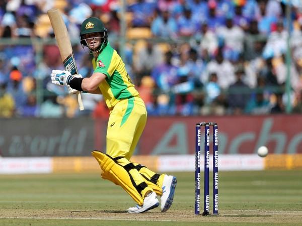 Australia batsman Steve Smith in action against India (Photo/ cricket.com.au Twitter)