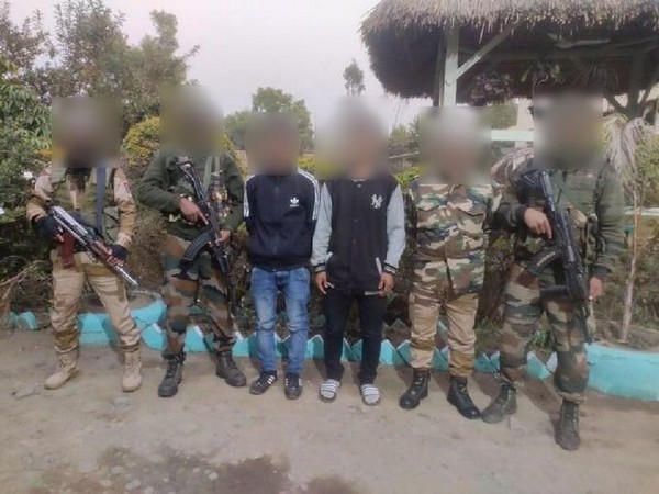 Troops of Assam Rifles in an operation with police apprehended 2 underground cadres of United Tribal Liberation Army.