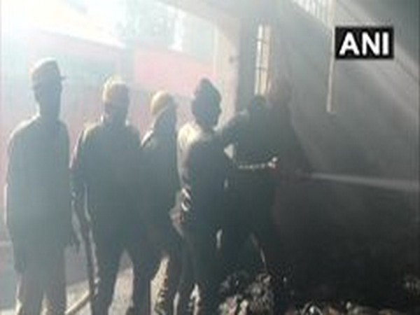Fire has been brought under control in Kullu's industrial area on Monday. Photo/ANI