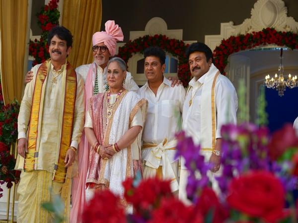 (L-R)Actors Akkineni Nagarjuna, Amitabh Bachchan, Jaya Bachchan, Shiva Rajkumar and Jaya (Image Source: Twitter)