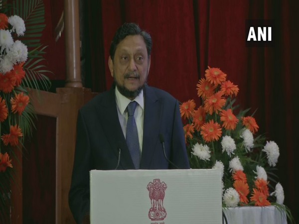 CJI SA Bobde addressing a gathering at the 79th foundation day celebration of Income Tax Appellate Tribunal (ITAT) in New Delhi on Friday. Photo/ANI