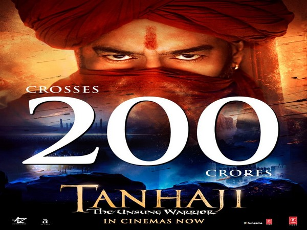'Tanhaji: The Unsung Warrior' mints whopping Rs 202.83 cr on day 15 of release