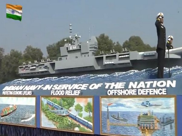 Indian Naval tableau on Republic Day Parade.