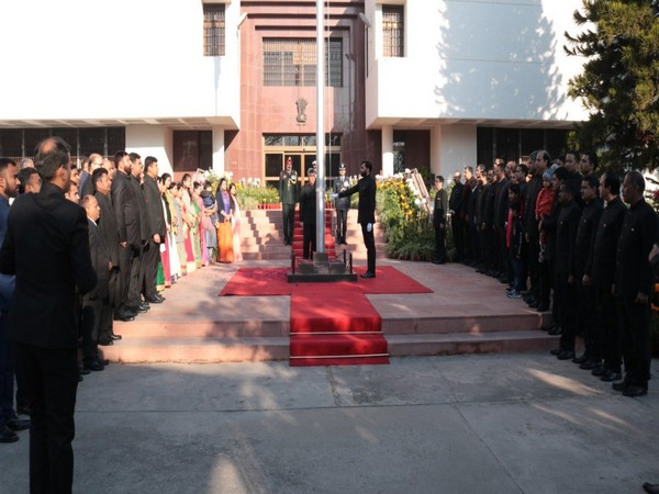 Charge d'affaires Gaurav Ahluwalia hoisted the tricolour and read out excerpts from President Ram Nath Kovind address to the nation.