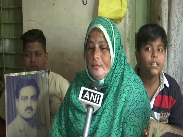 Shayara Bano, wife of 1984 Bhopal gas tragedy activist Abdul Jabbar, speaking to ANI on Sunday. Photo/ANI