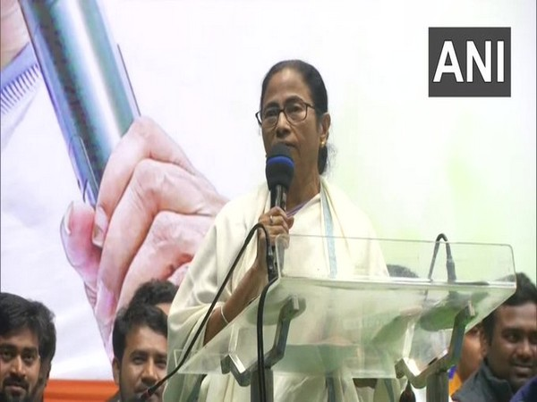 West Bengal Chief Minister Mamata Banerjee on Monday in Kolkata. Photo/ANI