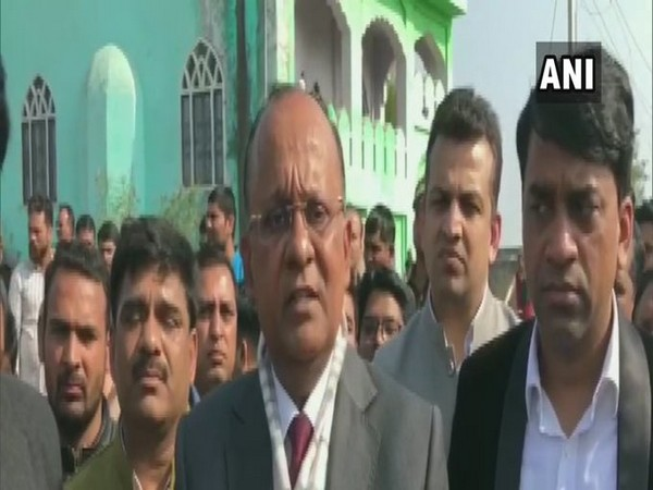 Greater Noida District Magistrate BN Singh speaking to reporters on Monday. Photo/ANI