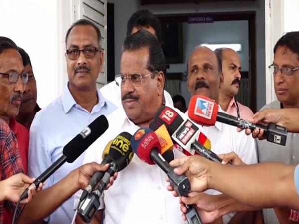 Kerala Minister EP Jayarajan talking to reporters in Kochi, Kerala on Monday. Photo/ANI