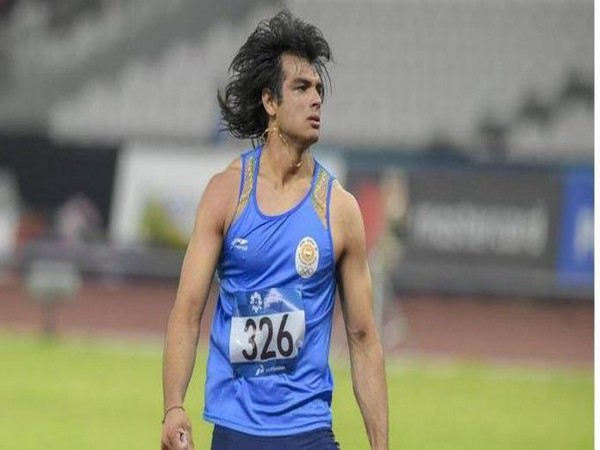 Javelin thrower Neeraj Chopra (Photo/ Kiren Rijiju Office Twitter)