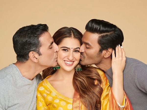 Actors Akshay Kumar, Sara Ali Khan and Dhanush (Image Source: Instagram)