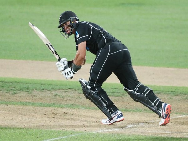 Kiwi batsman Ross Taylor in action against India (Photo/ ICC Twitter)