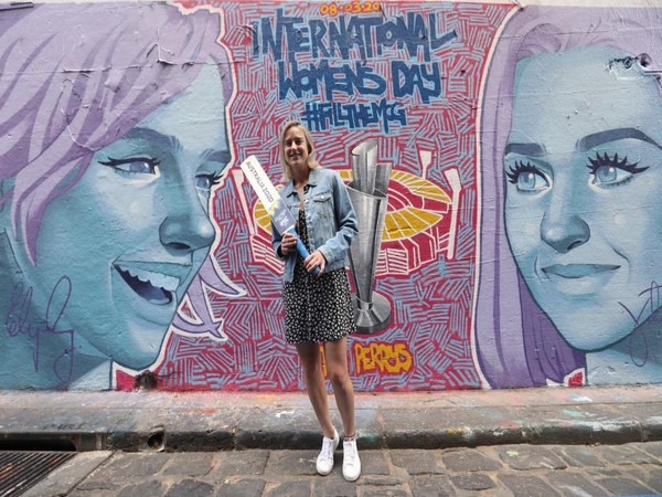 Ellyse Perry unveils mural in Melbourne ahead of Women's T20 World Cup (Photo/ T20 World Cup Twitter)