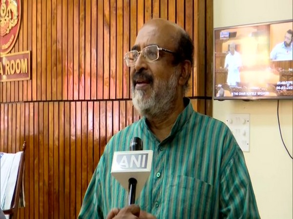 Kerala finance minister Thomas Isaac speaks to ANI in Thiruvananthapuram on Thursday [Photo/ANI]