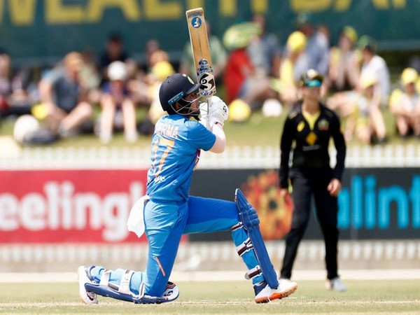 India's Shafali Verma in action against Australia (Photo/ ICC Twitter)