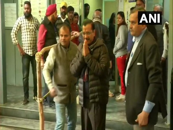 Chief Minister Arvind Kejriwal along with his family casts his vote at a polling booth in Civil Lines [Photo/ANI]