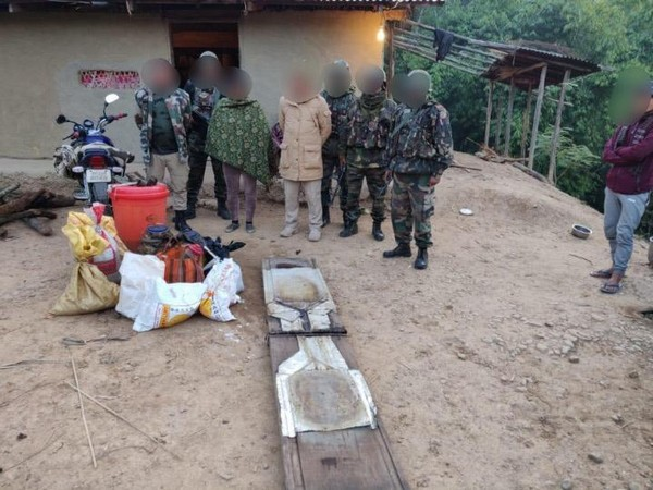 Assam Rifles along with Police today busted an illegal drug manufacturing unit in Thoubal