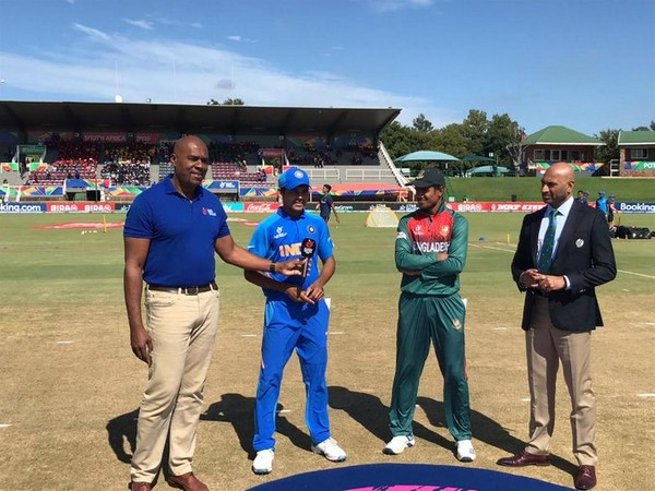 India and Bangladesh captains during toss at finals of U19 World Cup (Photo/ Cricket World Cup Twitter)