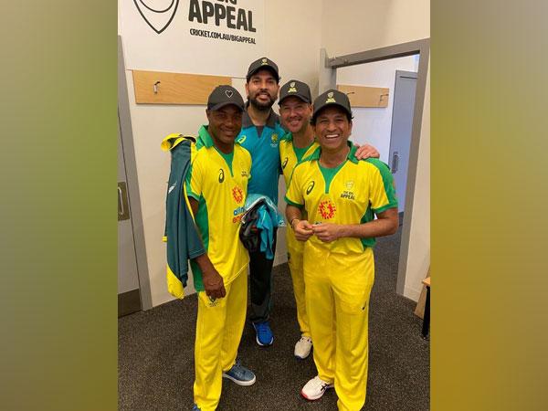 Brian Lara, Sachin Tendulkar, Yuvraj Singh and Ricky Ponting (Photo/ Yuvraj Singh Twitter)