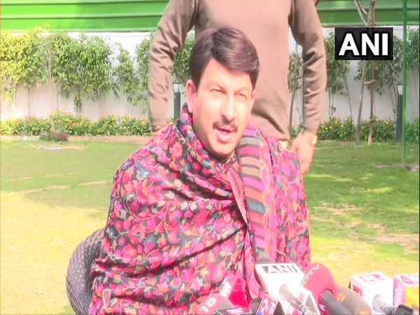 BJP State unit chief Manoj Tiwari speaks to media in New Delhi on Tuesday [Photo/ANI]