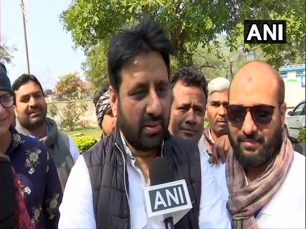AAP MLA from Okhla Amanatullah Khan speaking to ANI in New Delhi on Tuesday.