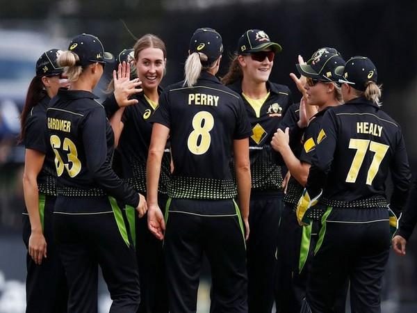 Australia cricket team in action against India (Photo/ ICC Twitter)