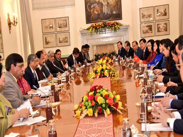 India and Vietnam delegation level talks underway in New Delhi on Wednesday
