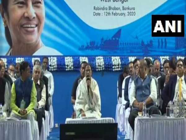 West Bengal Chief Minister Mamata Banerjee speaking at an event in Bankura on Wednesday.