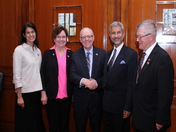 EAM S Jaishankar met the Canadian Parliamentary delegation led by Speaker George J Furey (Photo tweeted by EAM)