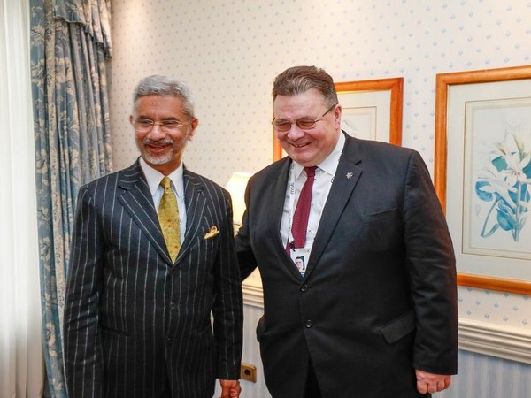 External Affairs Minister S Jaishankar with his Lithuanian counterpart Linas Linkevicius.