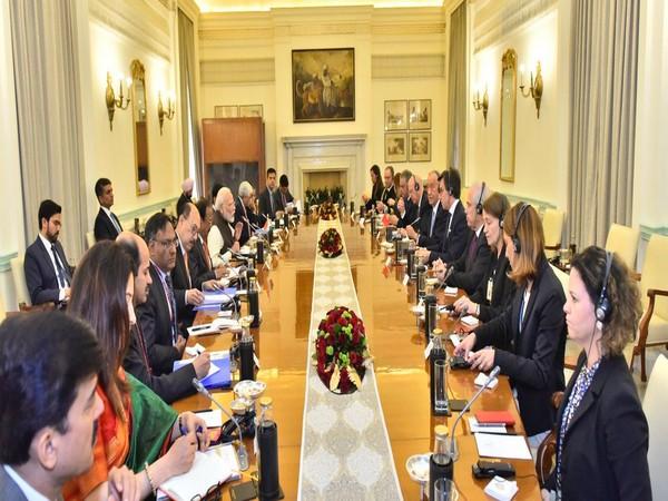 PM Modi at delegation-level talks with Portuguese President Marcelo Rebelo De Sousa in New Delhi on Friday
