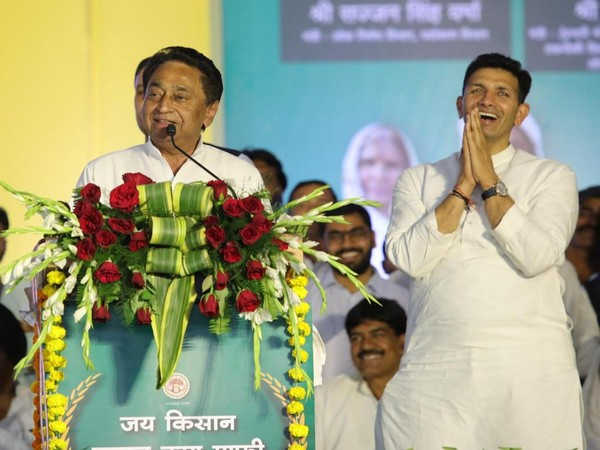 Madhya Pradesh Chief Minister Kamal Nath speaking in Rau constituency of Indore district on Friday.